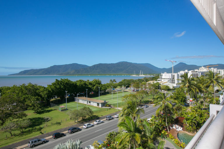 Cairns Luxury Seafront Apartment Balcony View 1