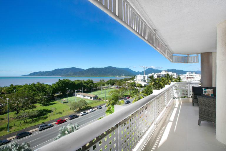 Cairns Luxury Seafront Apartment Balcony View 2