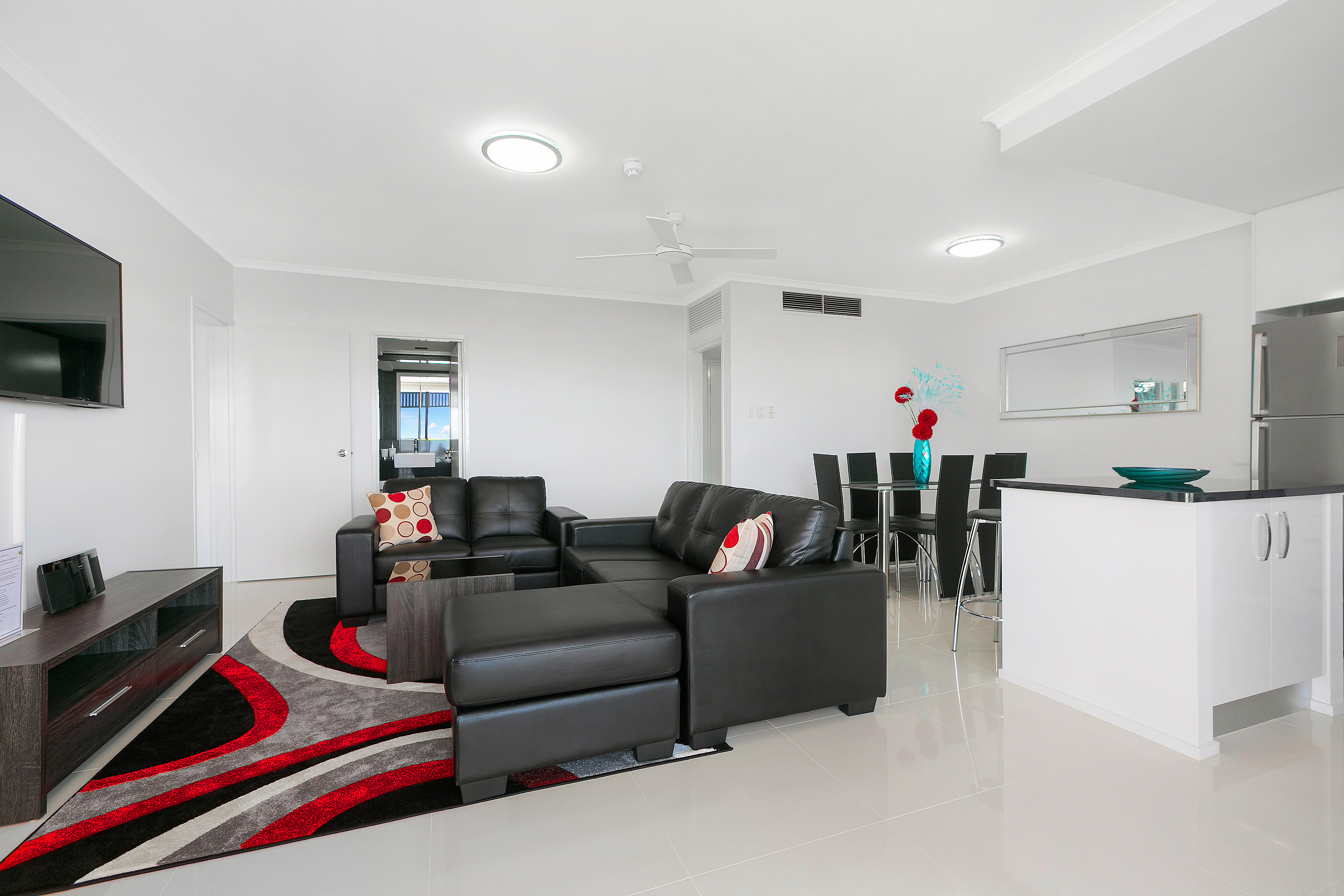 Cairns Luxury Seafront Apartment Living Room 2