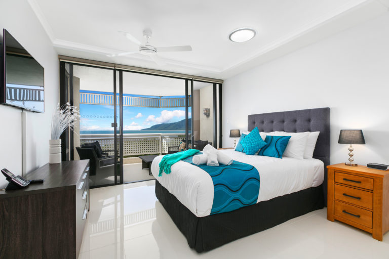 Cairns Luxury Seafront Apartment Master Bedroom