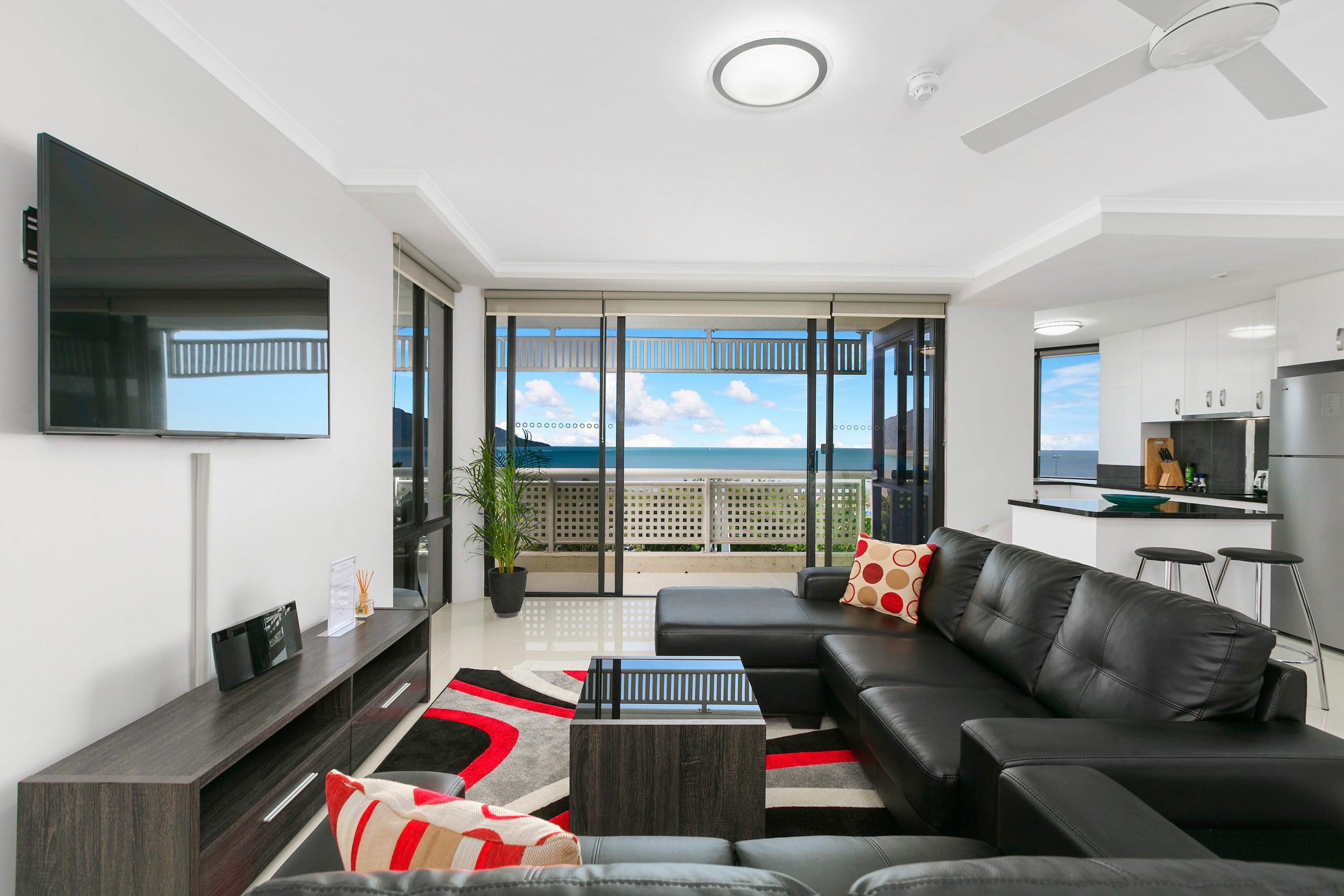 Cairns Luxury Seafront Apartment Lounge Area 1